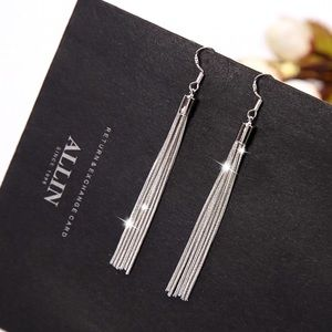 2/$20!  Stamped 925 Silver Tassel Earrings
